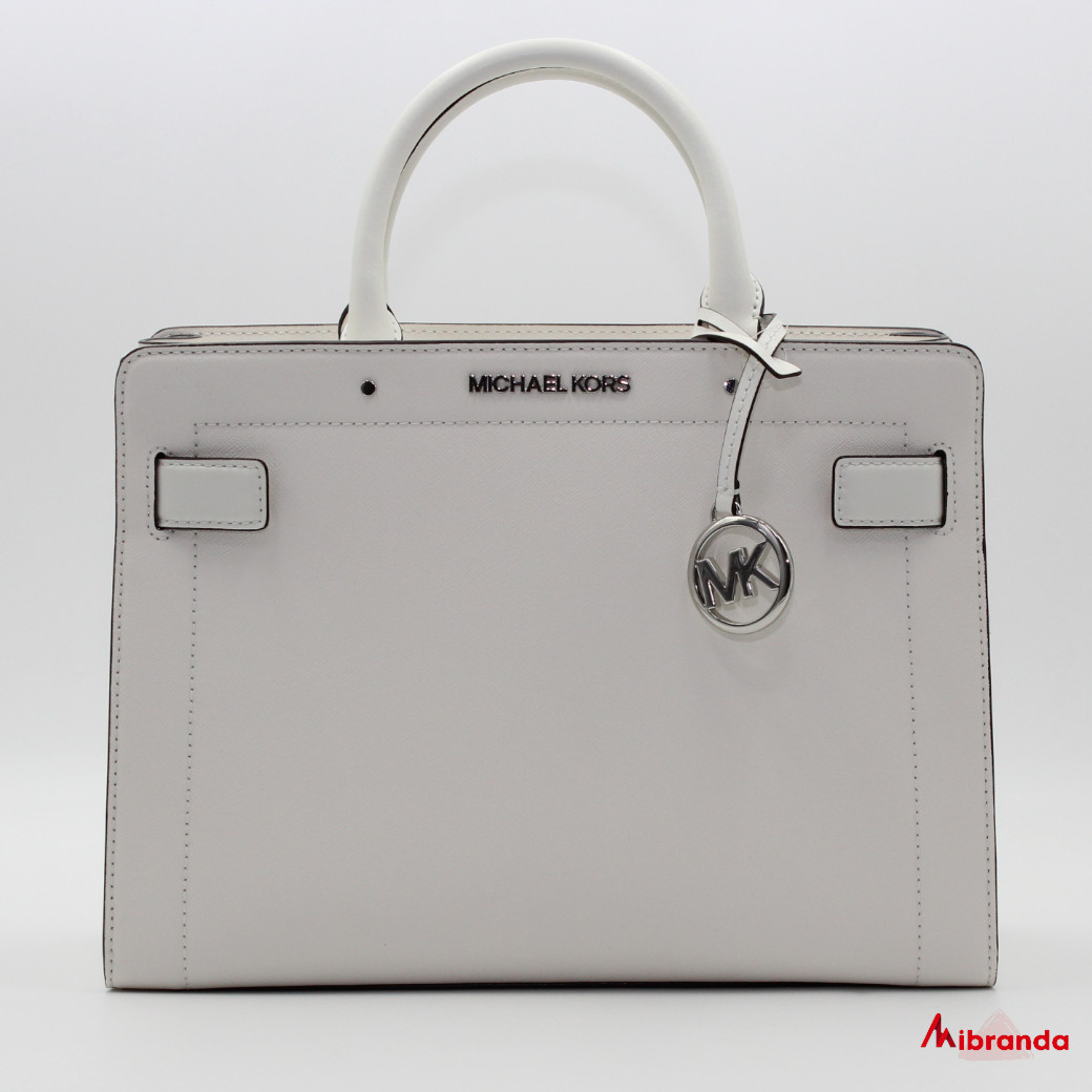 Bolso Satchel Rayne Medium, de Michael Kors, color optic white