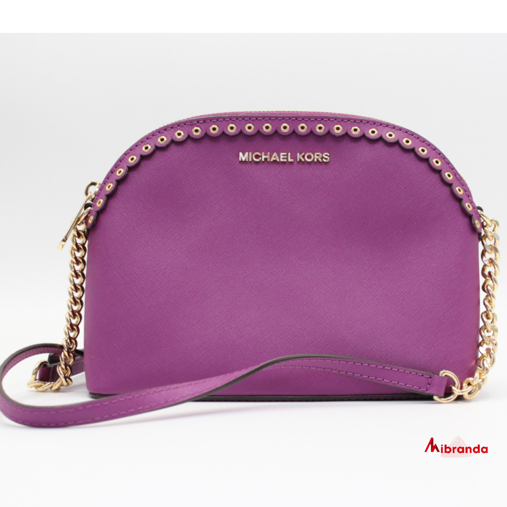 Bolso bandolera DOME, de Michael Kors, color pomegranate