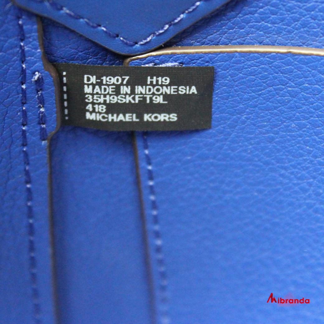Bolso maxi Tote Kimberly, de Michael Kors, color cobalto.