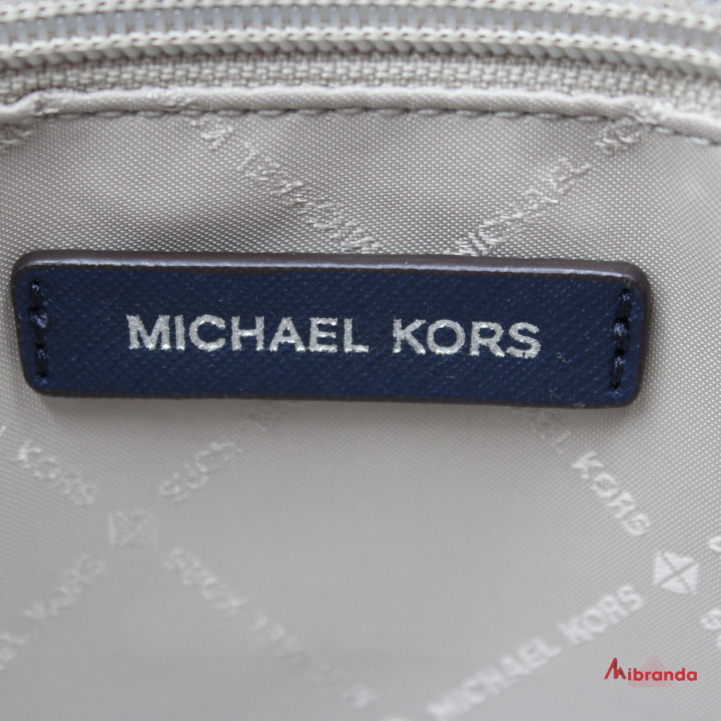 Bolso Satchel Ciara, tamaño grande de Michael Kors, navy