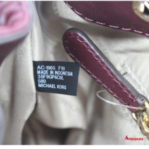 Bolso bombonera modelo Peyton,tamaño pequeño de Michael Kors, merlot