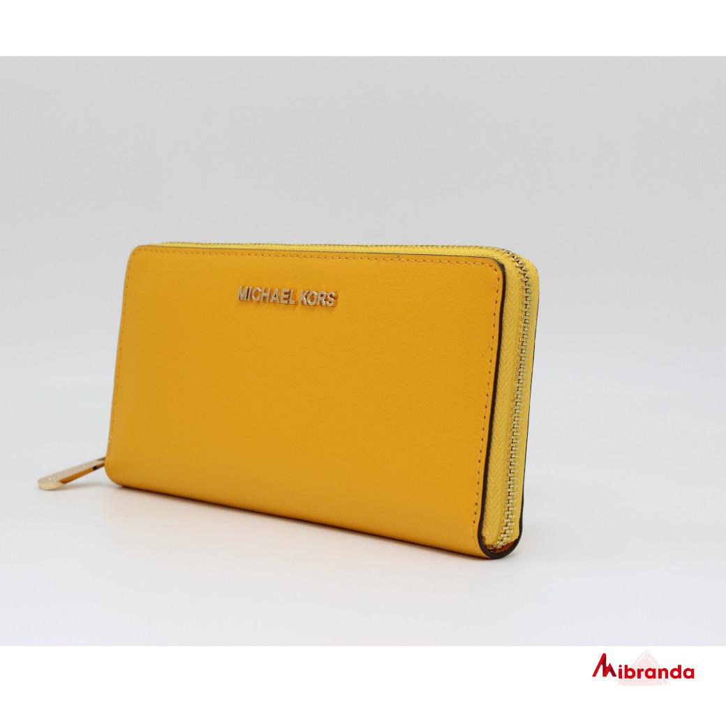 Cartera Jet Set Michael Kors, color amarillo