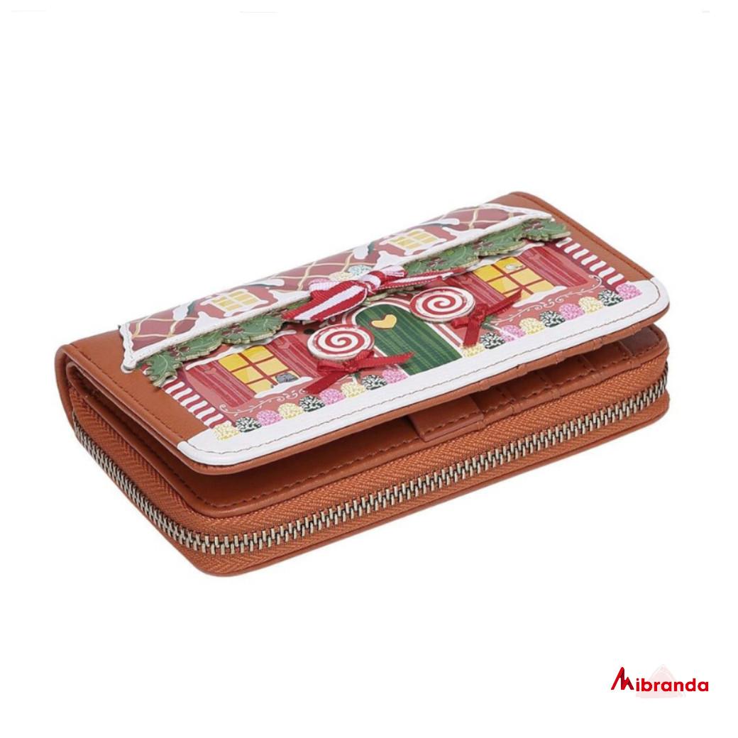 Cartera mediana con cremallera Gingerbread, de Vendula London