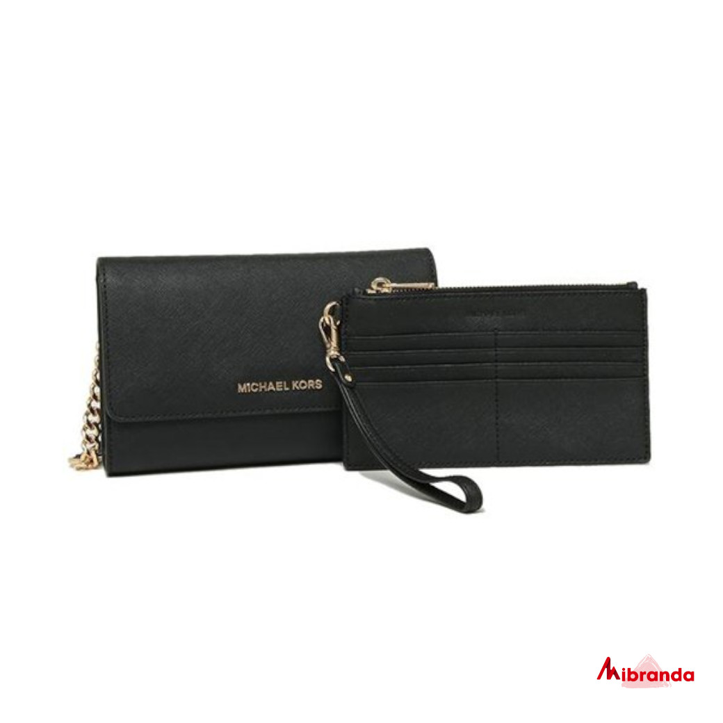 Bolso Clutch JET SET TRAVEL, de Michael Kors, negro