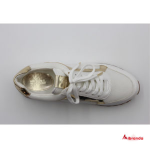 Sneakers MADDY TRAINERS, white/gold, de Michael Kors