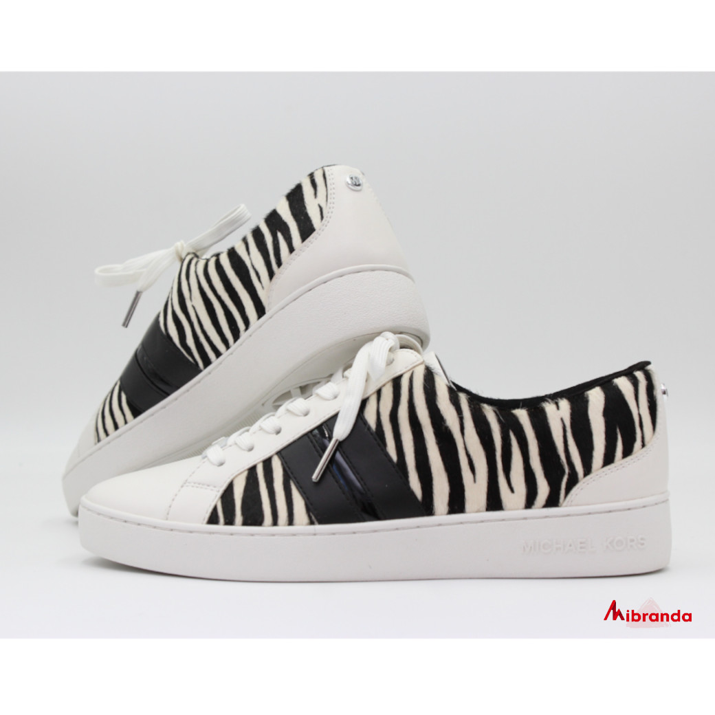 Bambas Catelyn Stripe Lace up Zebra haircalf, de Michael Kors