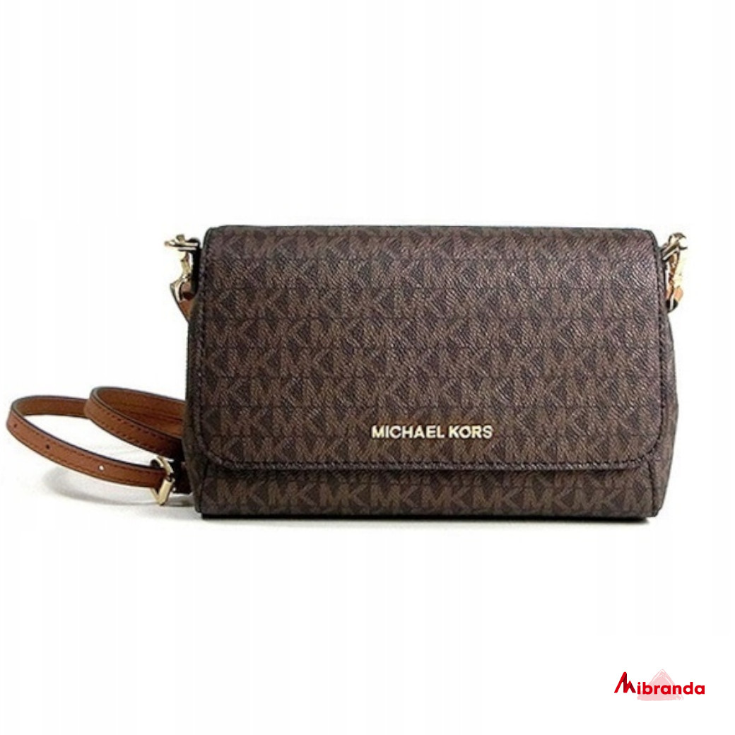 Bolso Pouchette JET SET ITEM, de Michael Kors, brown.