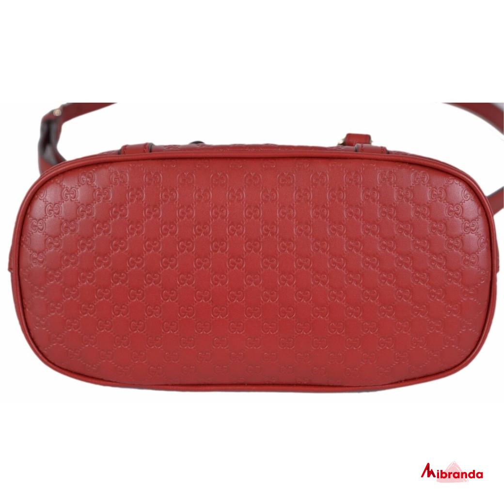 Gucci GG mini Dome Satchel, rojo oscuro