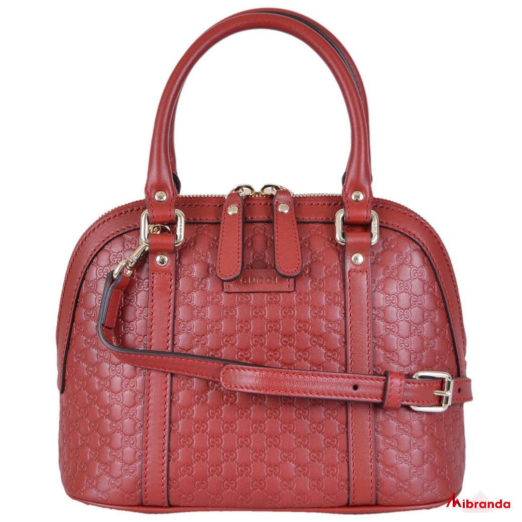 Gucci GG mini Dome Satchel, rojo oscuro