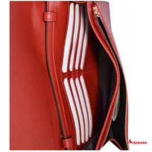 Gucci bolso bandolera GG, rojo oscuro.