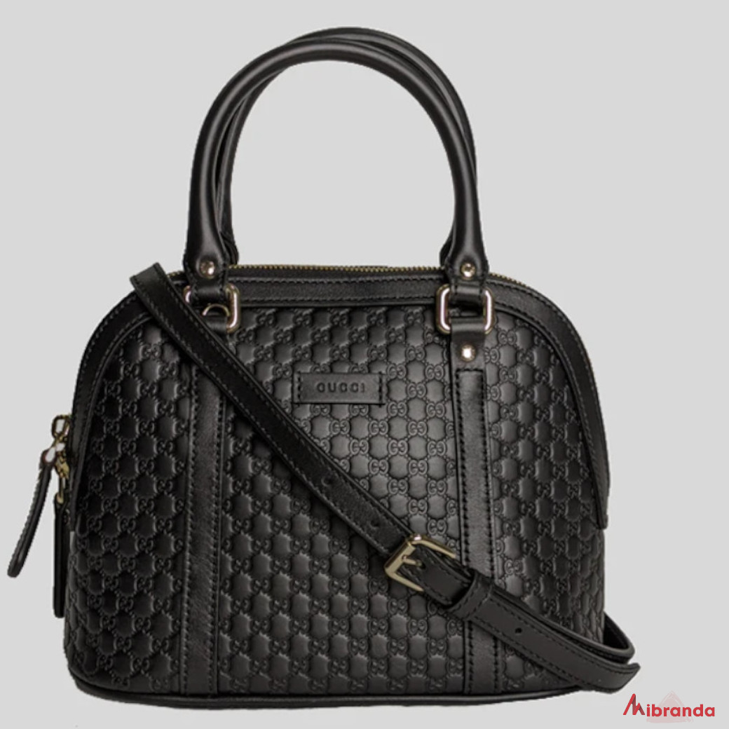 Gucci GG mini Dome Satchel, negro.