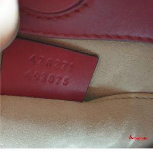 Gucci bolso Bambú Nymphaea, pequeño, rojo oscuro