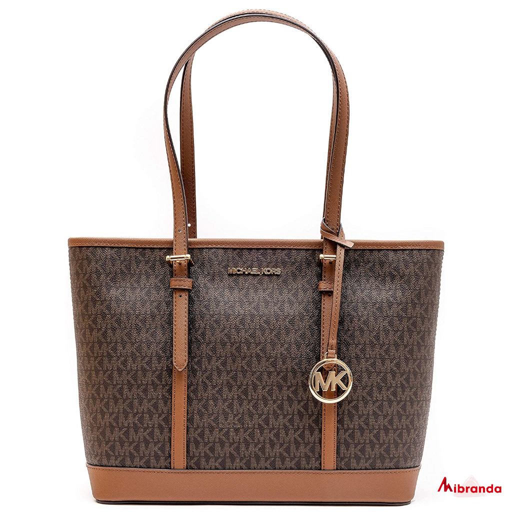Bolso Maxi Tote Jet Set Travel, brown, de Michael Kors.