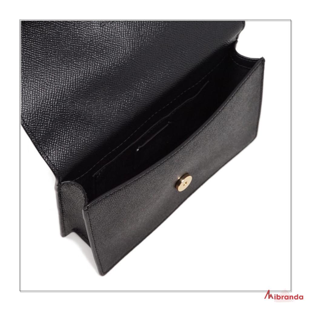 Bolso bandolera/riñonera convertible, en piel negra, de COACH