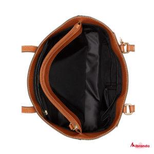 Bolso Tote LEONA, marrón, de GUESS