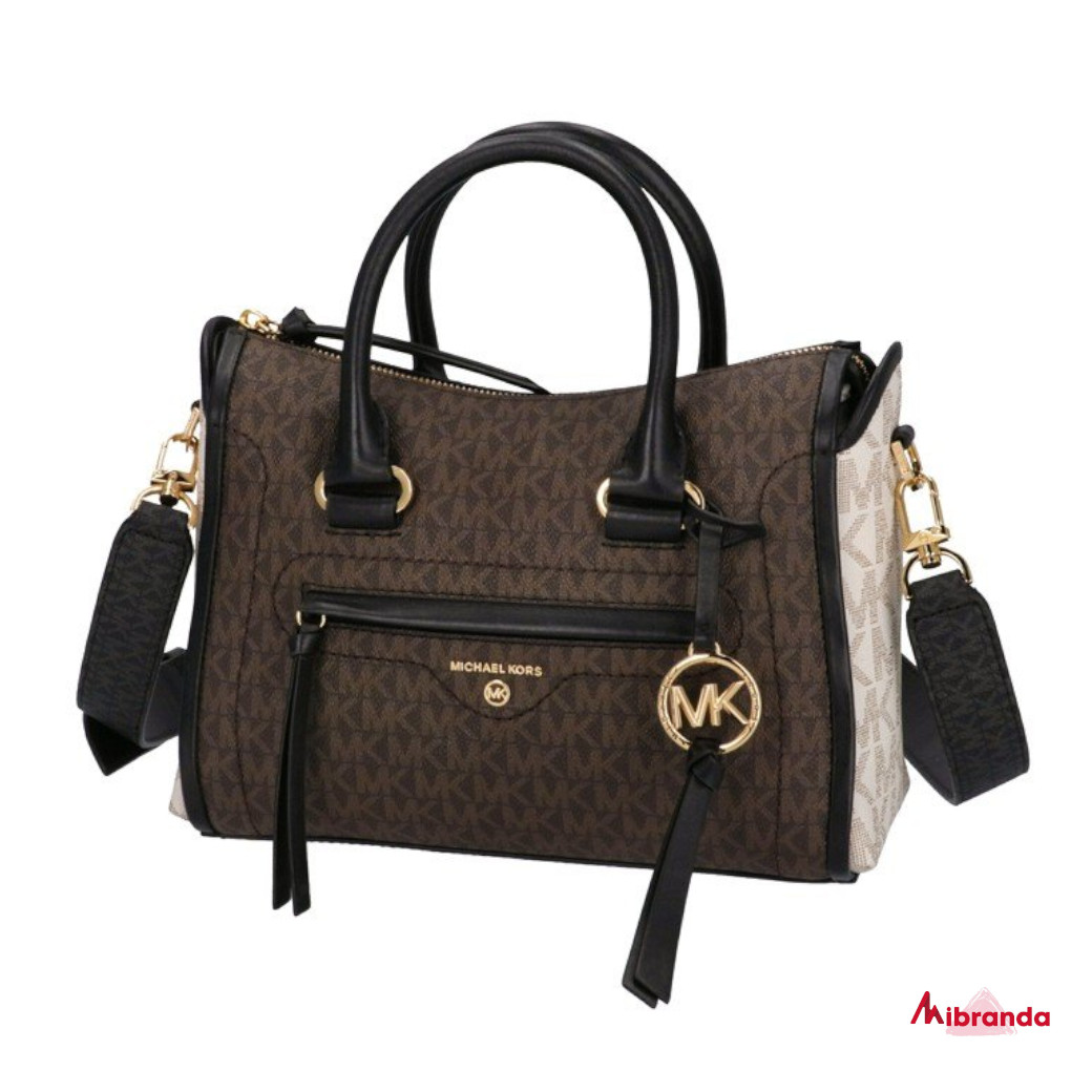 Bolso Satchel CARINE, brown, de Michael Kors.