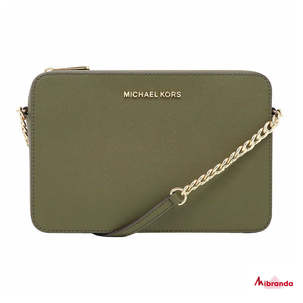 Bandolera JET SET, de Michael Kors, color verde.