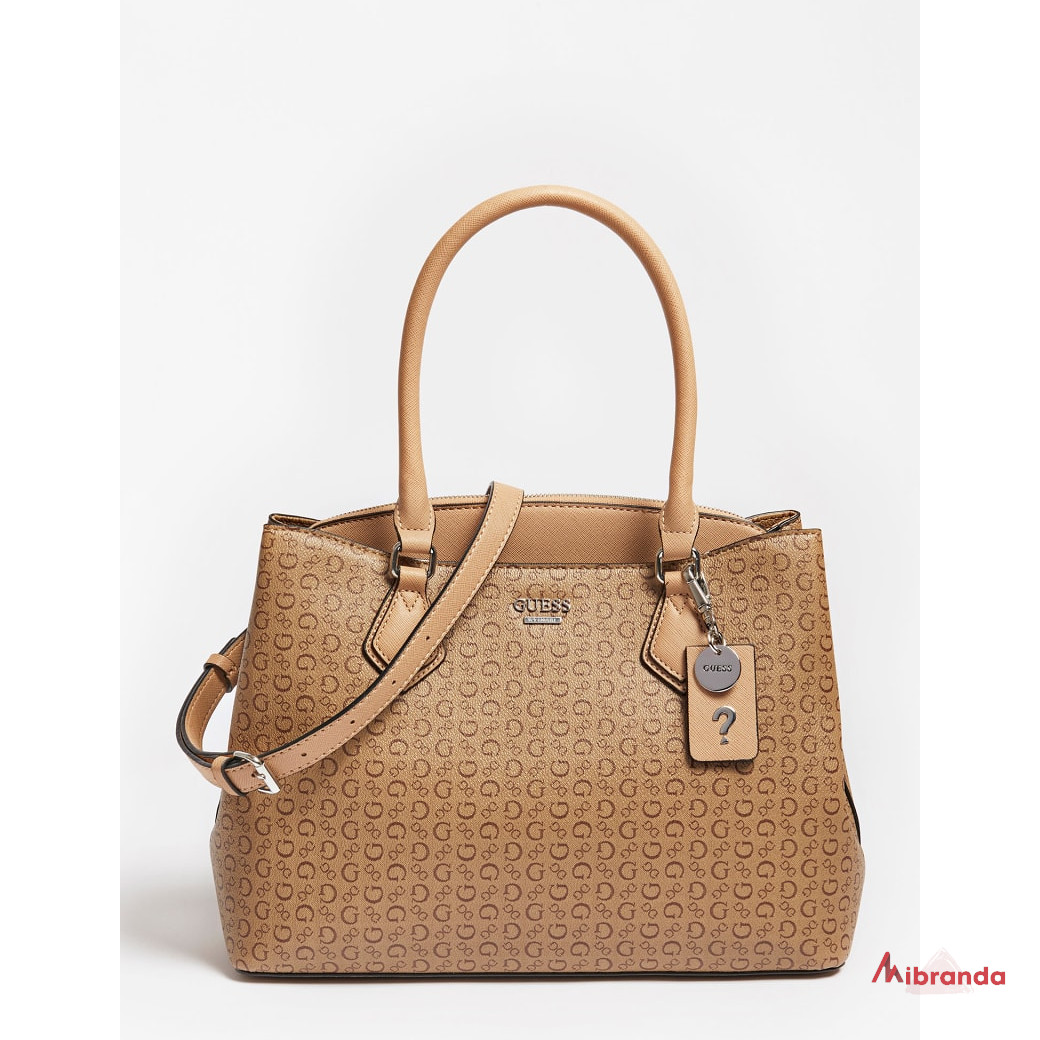 Bolso Satchel IRVINE, brown, de GUESS