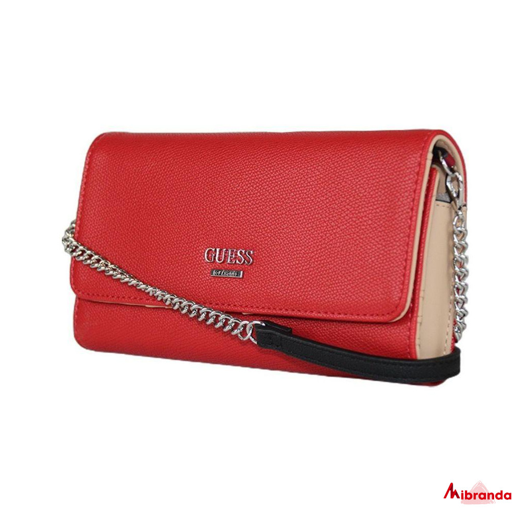 Bolso Clutch CAMPOS MINI, red, de GUESS