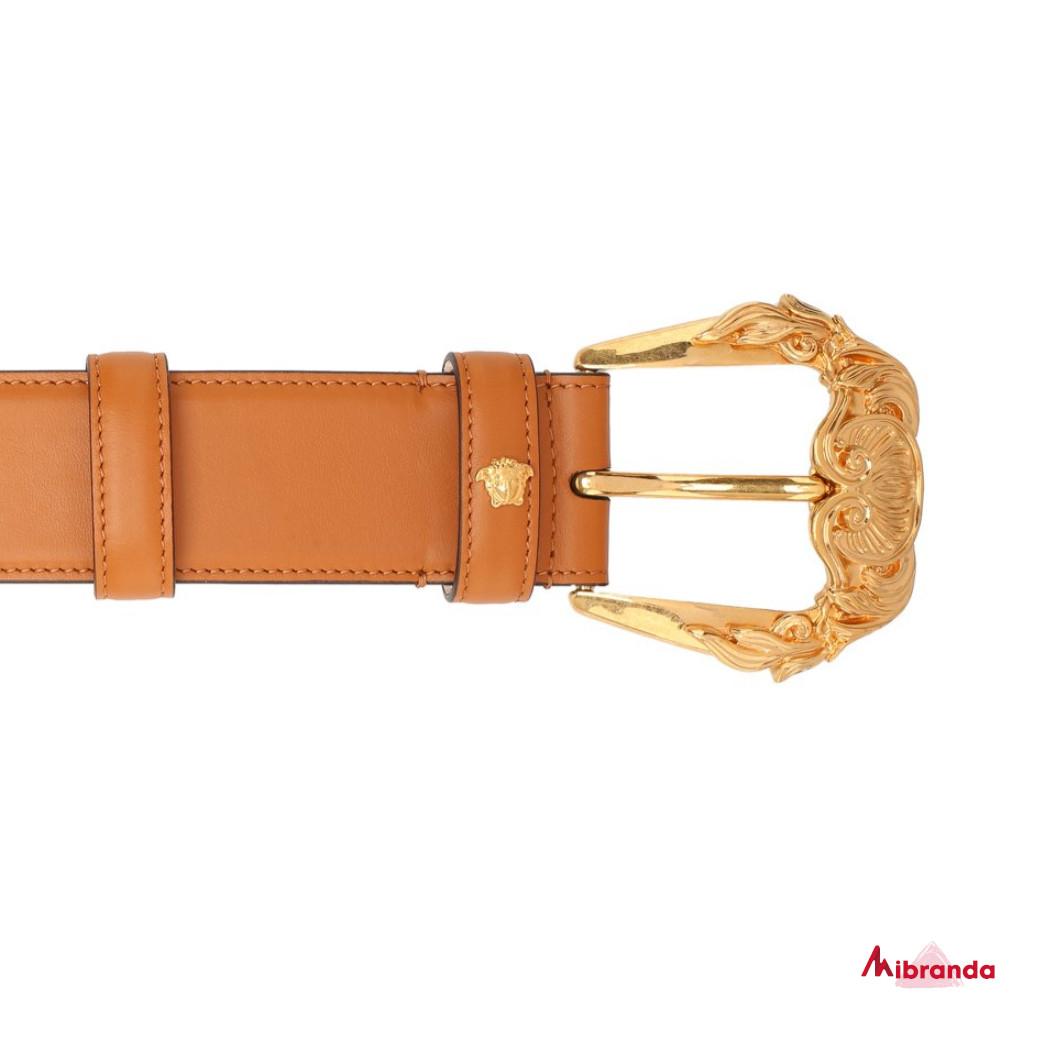 Cinturón de piel marrón, de VERSACE