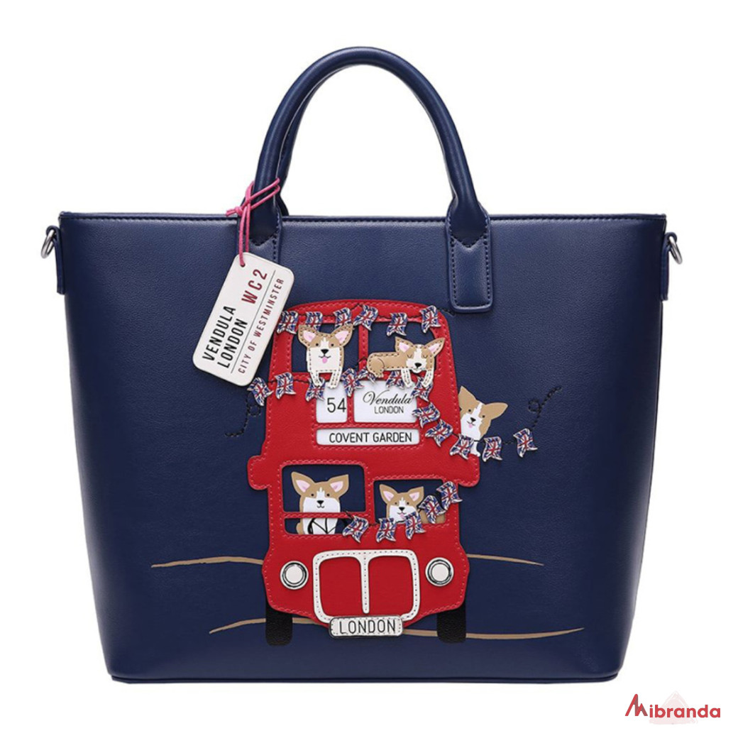 Bolso Tote London Corgis, de Vendula London