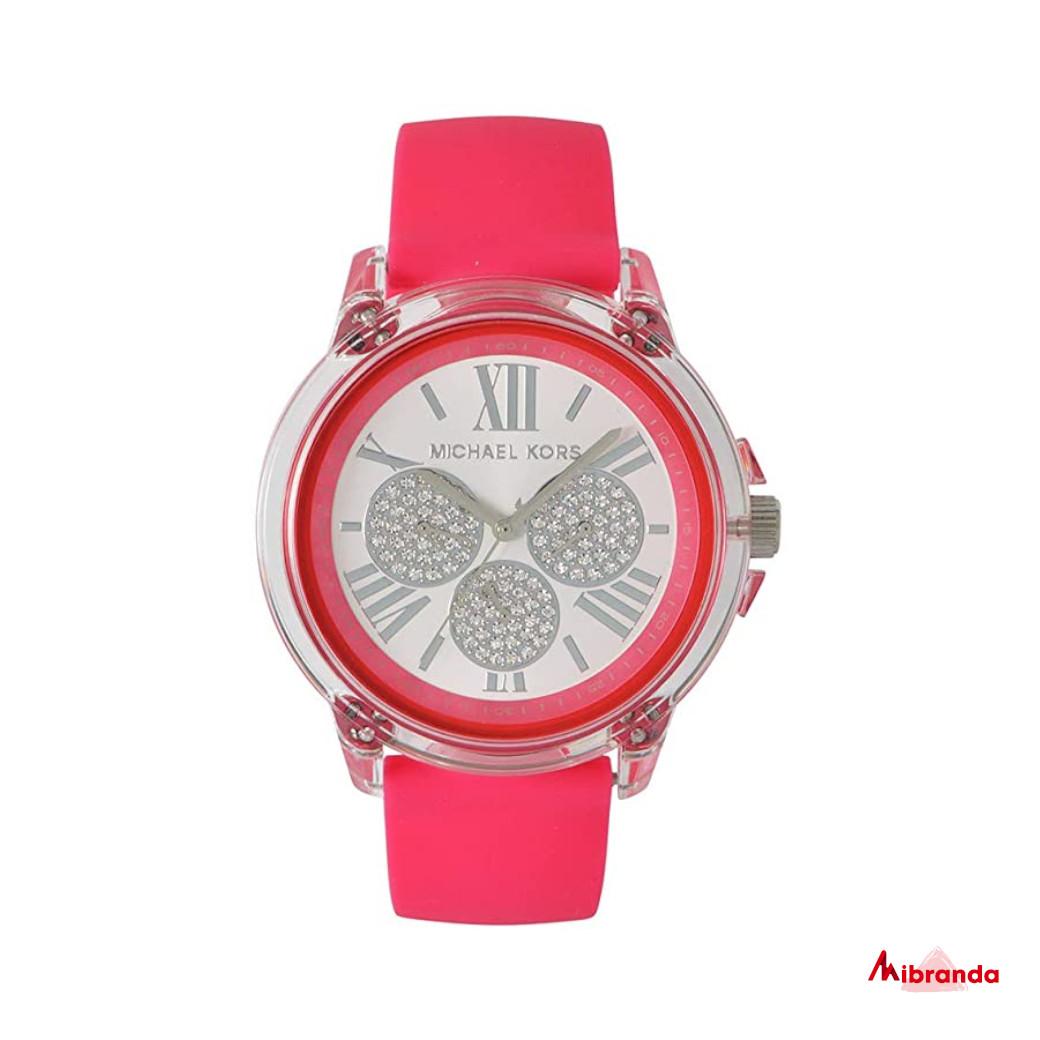 Michael Kors Reloj Bradshaw hot pink para mujer MK6876