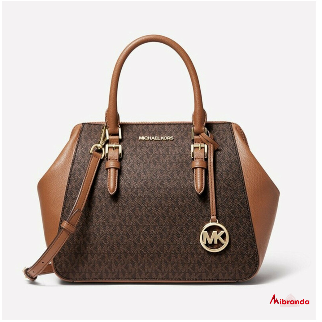 Bolso Satchel CHARLOTTE, brown, de Michael Kors