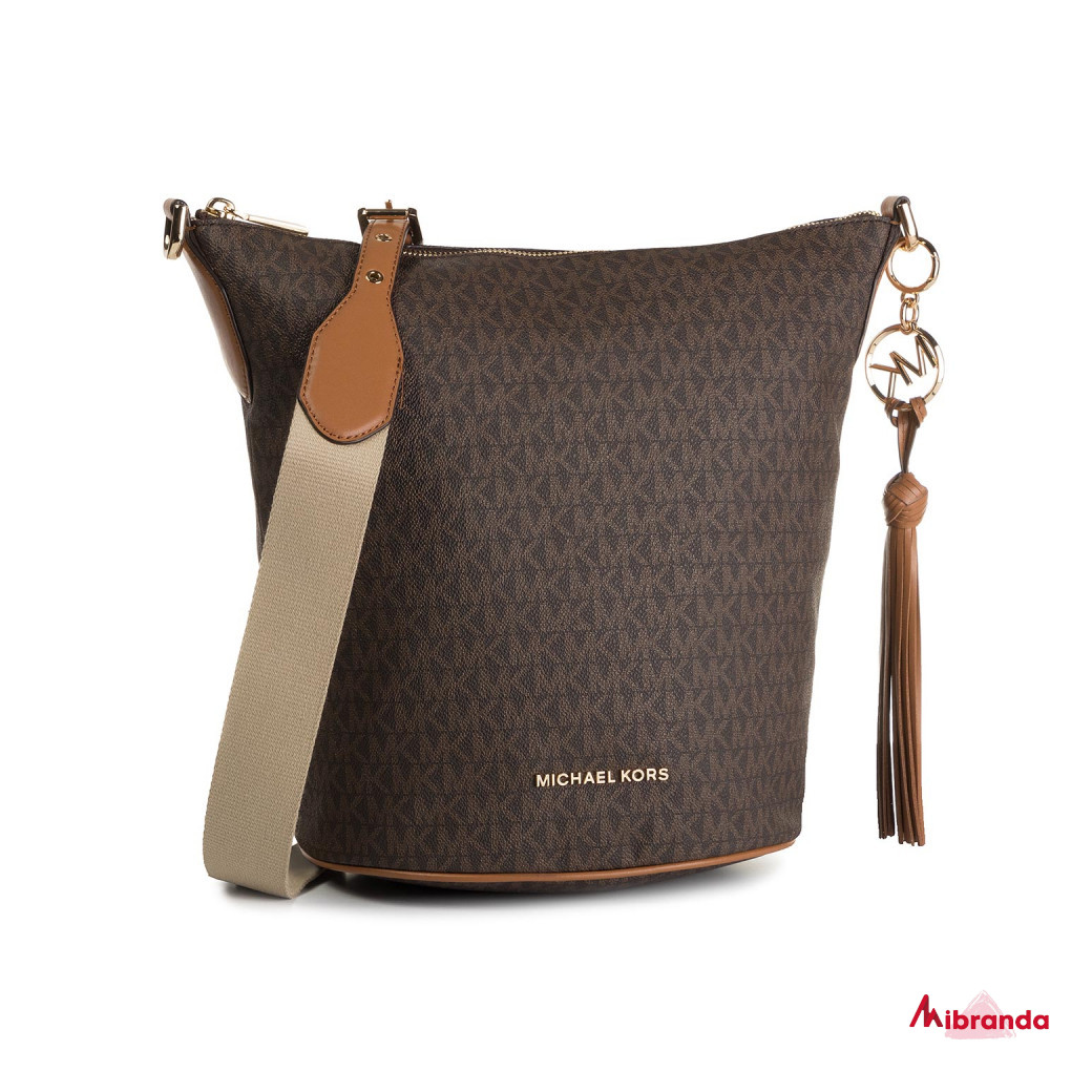 Bolso de hombro BROOKE, brown, de Michael Kors