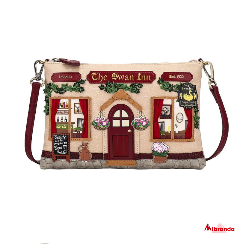 Bolso Clutch The Swan Inn Pub, de Vendula London
