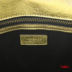 Bolso de hombro patchwork, de Versace.