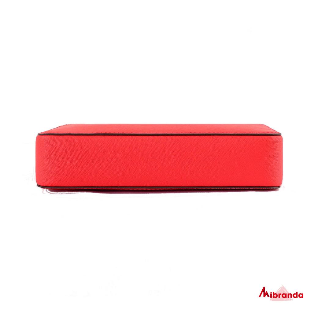 Bolso bandolera JET SET, rojo, de Michael Kors.