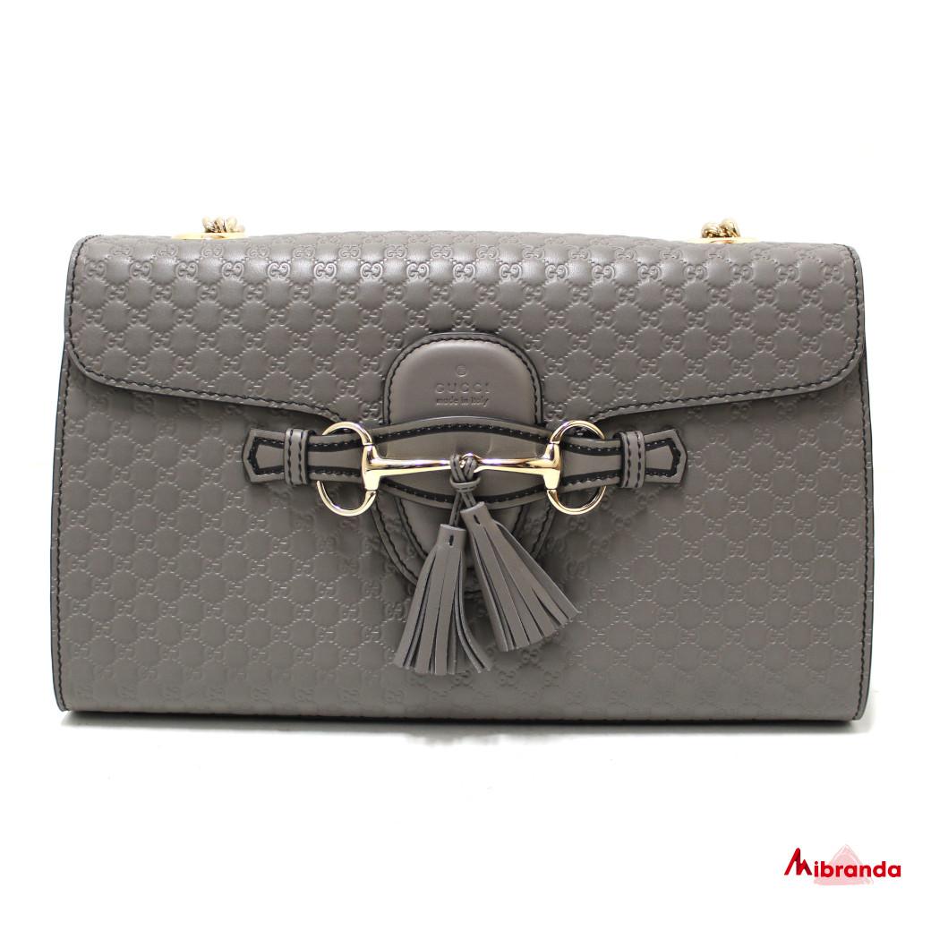 Bolso de hombro Emily Micro GG, gris, de Gucci.